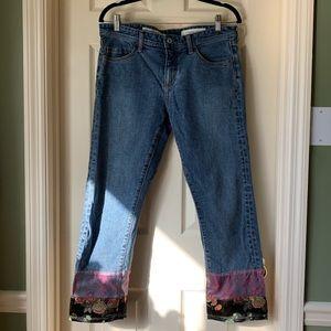 Pilcro and the Letterpress Patchwork Hem Jeans